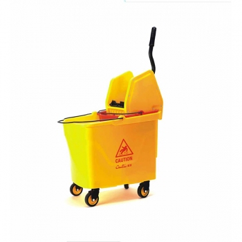 Down-press Single Mop Wringer Trolley B-046B
